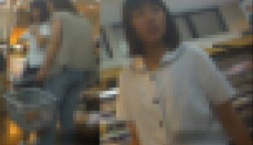 母親と買い物に来たJ○の排○映像