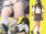 【粘着痴漢】清純そうなJ◯が電車内でお漏らし?連れ込んだトイレで強制フェラ&生ハメ!